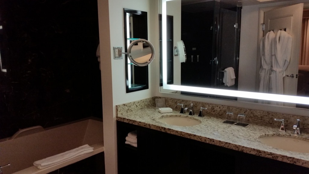 the delano las vegas two bathrooms per suite