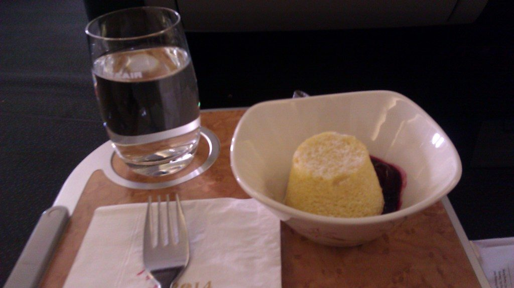 eva airlines Boeing 747 400 business class food
