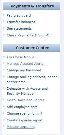 notify bank of travel chase.com