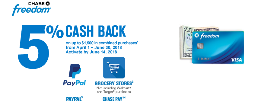 chase freedom q2 2018 4th quarter 2 2018 5% cash back categories