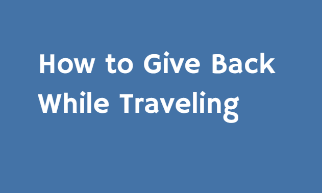 How To Donate on Your Next Trip