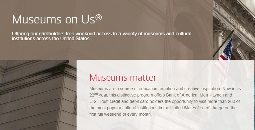 Bank of America Free Museum Days For 2019
