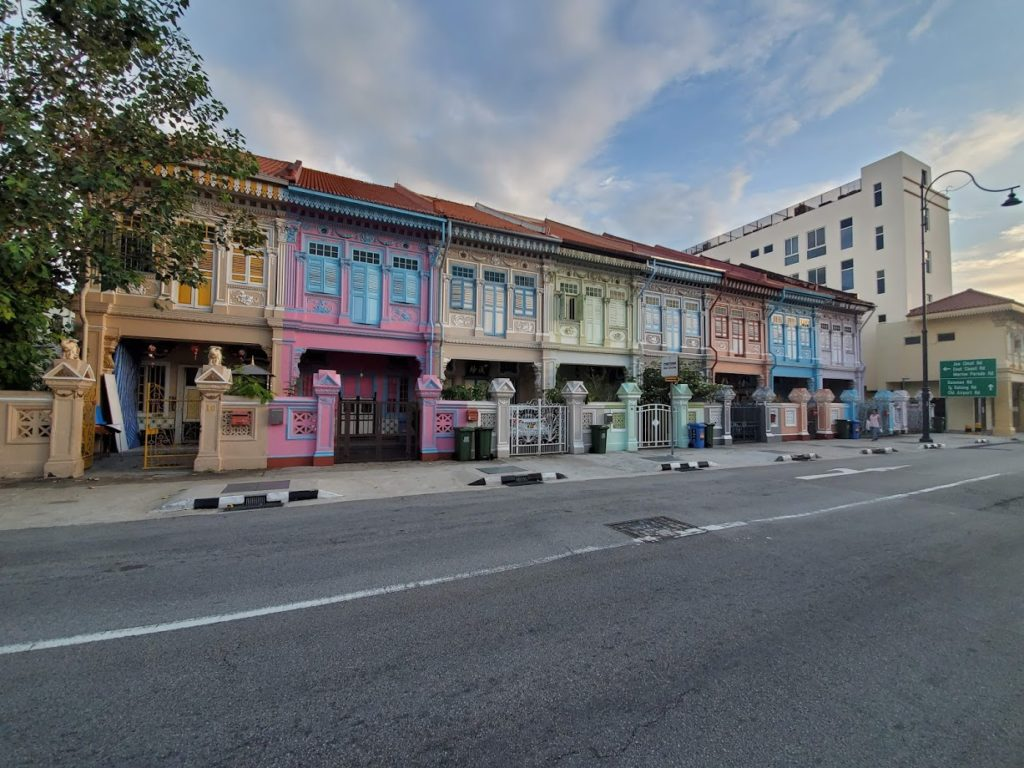 instaworthy Koon Seng Road with pretty pastel colored buildings